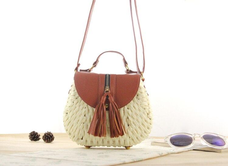 Été 2019 petit sac à main Transparent femmes sacs à main chaîne sac de paille dame voyage plage épaule sac à bandoulière vacances