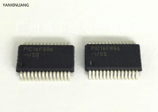 Free Shipping 50pcs/lots PIC16F886-I/SO PIC16F886 SOP-28 New original IC In stock!