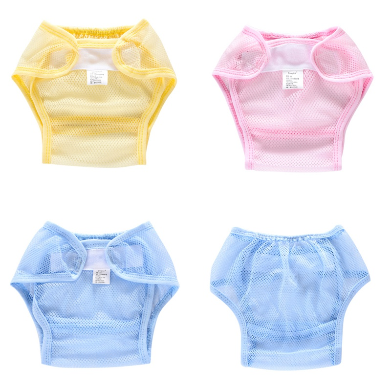 Baby Summer Washable Cloth Nappy Diaper Not Waterproof Reusable Nappy Pocket Mesh Cloth Reusable Diapers Plus Size S-L