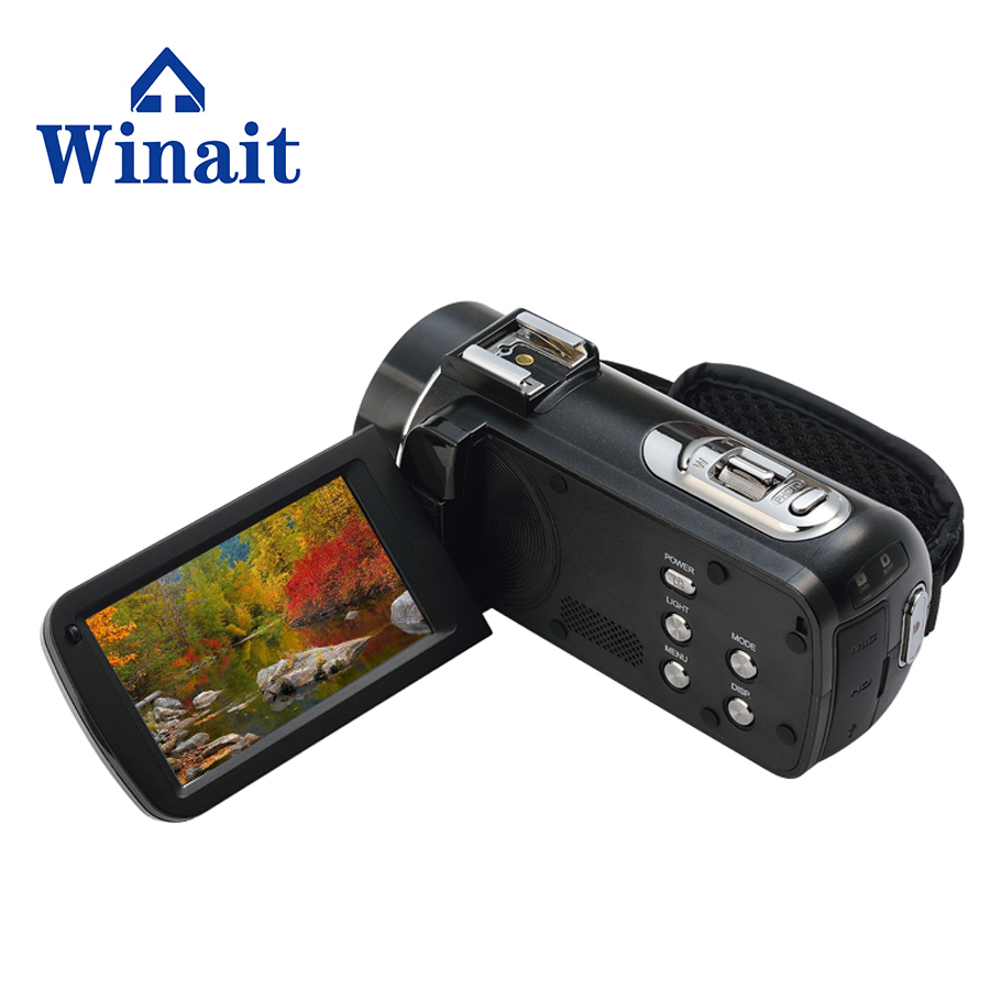 2017 Hot sell full hd 1080P digital video camera HDV-Z20   support macro lens and hot shoe micro phone