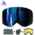 Векторные брендовые лыжные очки с двойными линзами UV400 Анти-противотуманные женские мужские сноубордические лыжные очки снежные очки с доп...