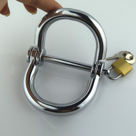 45*55mm hand ankle cuffs stainless steel handcuffs metal bondage wrist restraints sex products for adults games erotic toys