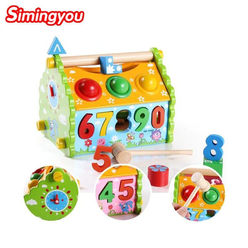 Simingyou обучения Образование Цвет коробка математика игрушка мудрость дом разборки деревянные головоломки b40-jf40 Прямая доставка
