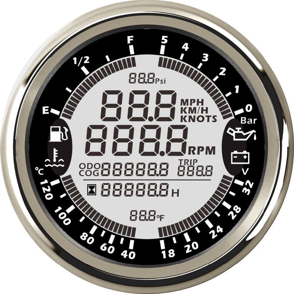 ELING Water Temp Gauge Meter 40-120℃ with Backlight 52mm 9-32V
