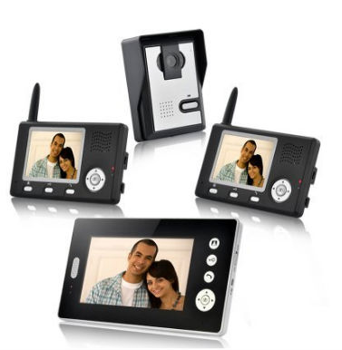 YobangSecurity Wireless Video Door Phone Doorbell Intercom Video Entry Intercom System with Triple Receivers-3 Wireless Receiver 2 receivers 60 buzzers wireless restaurant buzzer caller table call calling button waiter pager system