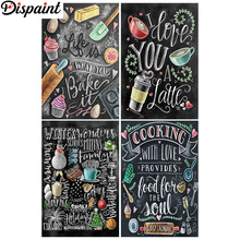 Dispaint Full Square/Round Drill 5D DIY Diamond Painting Blackboard painting 3D Embroidery Cross Stitch 5D Home Decor Gift цена