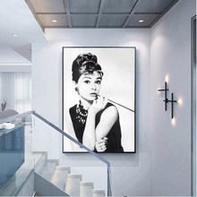 Wall Art Modular Prints Pictures Nordic Canvas Poster Audrey Hepburn Potrait Make Up Painting Modern For Living Room Home Decor(China)