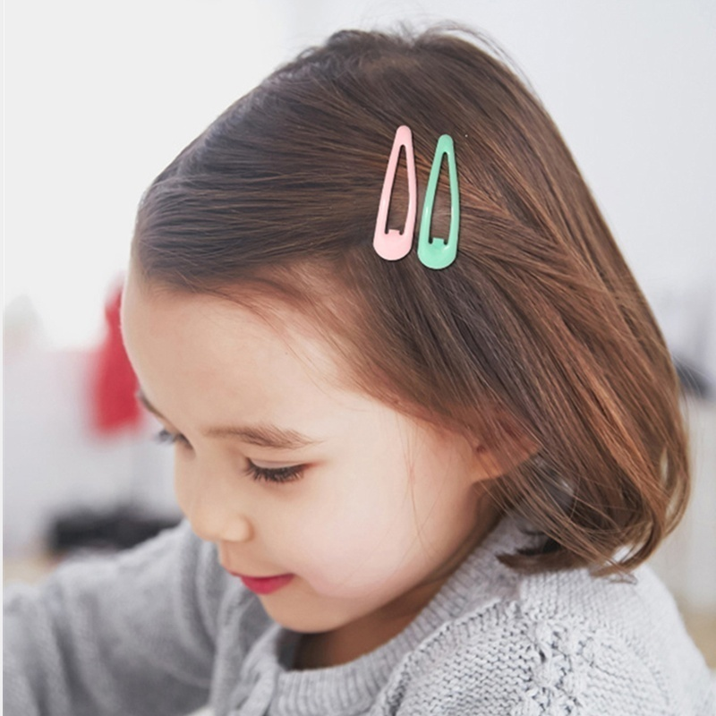 50Pcs Lot Hair Accessories Candy Drop Hair Clip Princess Barrette Korean Fashion New Solid Hairclip Headdress Hairpins for Girls in Women 39 s Hair Accessories from Apparel Accessories
