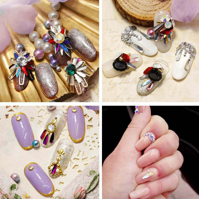 776b607cfc US $1.8 |10PCS Nail Charms Gems Glass Rhinestones for Nails Design Crystals  3D Strass Nail Art Jewelry Decoration Ongle Manicure MJZ1021-in ...