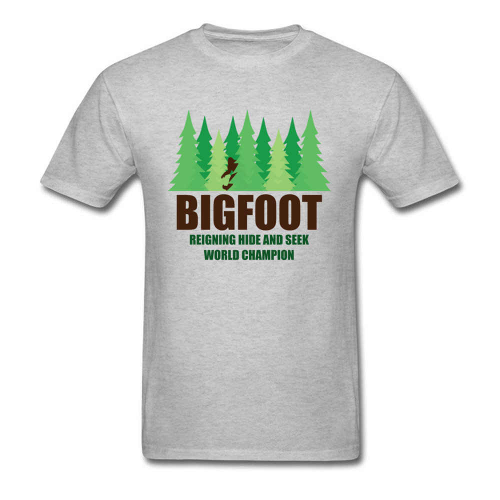 a242be372 ... Green Forest Earth Day T Shirt For Men Bigfoot Sasquatch Hide And Seek  Twin Peaks T ...
