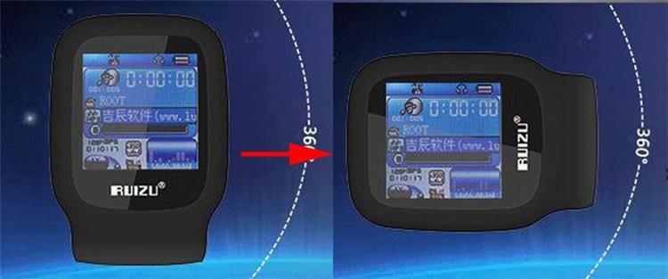 RUIZU X09 MINI MP3 Player Running Sports Clip Mp3 Walkman Support TF Card Music Player With 1.5 inch Screen E-Book Recording FM (13)