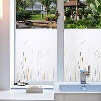 Window Privacy Cover Films Premium No Glue Static Cling Kitchen Glass Window Sticker Self Adhesive Home