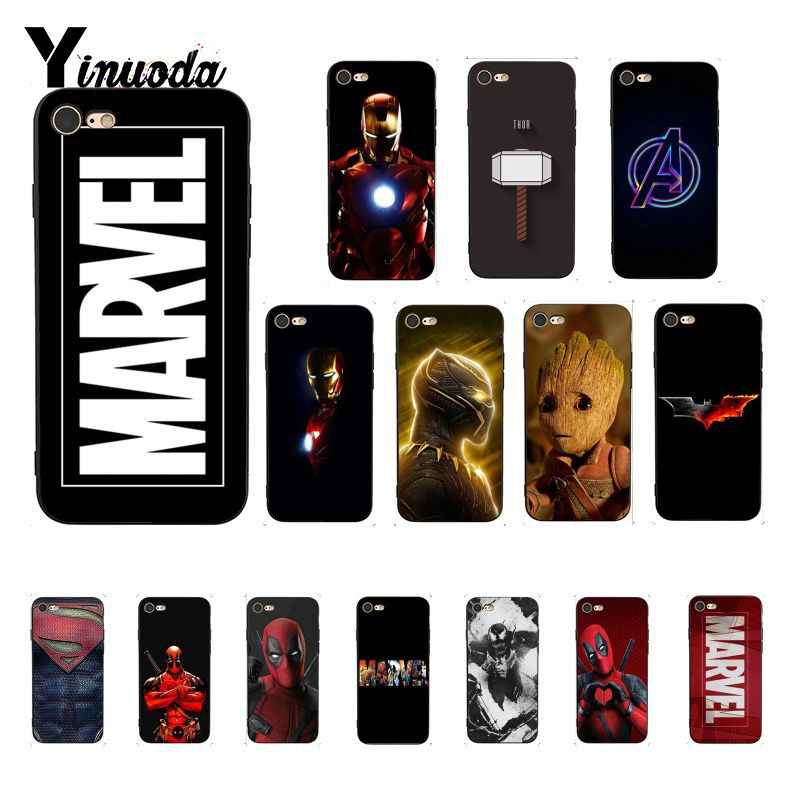 Yinuoda Deadpool Iron Man Marvel Avengers Mewah Desain Unik Phonecase untuk iPhone 8 7 6 6S 6Plus X XS Max 5 5S SE XR Cover