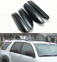 Black Roof Rail Rack Cover LEG For Toyota 4Runner N210 Hilux Surf Toyota SW4 2003 2009 Replace Shell Cover 4pcs/set