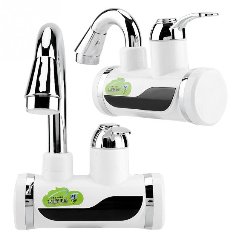 Elektrische Led Wasser Heizung Wasserhahn Instant Heißer Wasser Wasserhahn Heizung Küche Kalte Heizung Wasserhahn Tankless Durchlauferhitzer