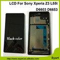 100% Гарантия Белый черный ЖК-Дисплей С Сенсорным Экраном Дигитайзер с рамка Ассамблея бесплатные инструменты Для Sony Xperia Z3 D6603 D6653 L55T