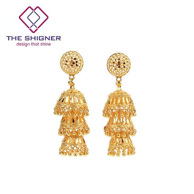 The Shigner Antique Ethnic Indian Golden Birdcage Jhumka Jhumki Earring India Clic Tribal Traditional Dangle Earrings