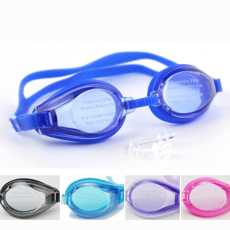 Barn Barn Mjukt Silikon Vanntett Svømmehall Antisklokk Undervanns Dykking Svømmebassenger Vannbriller Eyewear w / Pouch Bag