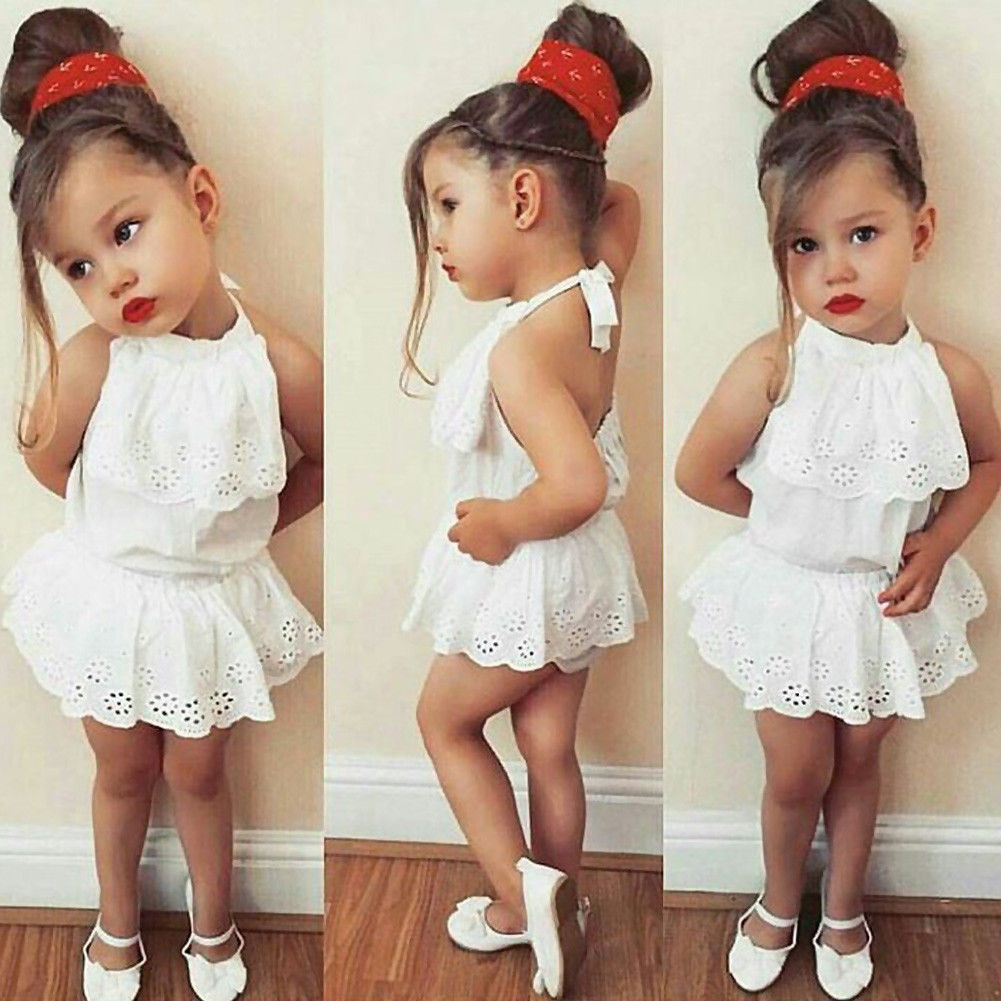 7bc01ab6260 0 24M Toddler Infant Baby clothes Newborn Girls cotton Bodysuit Lace  Sunsuit Outfits Clothes Summer meisjes jurk-in Bodysuits from Mother   Kids  on ...