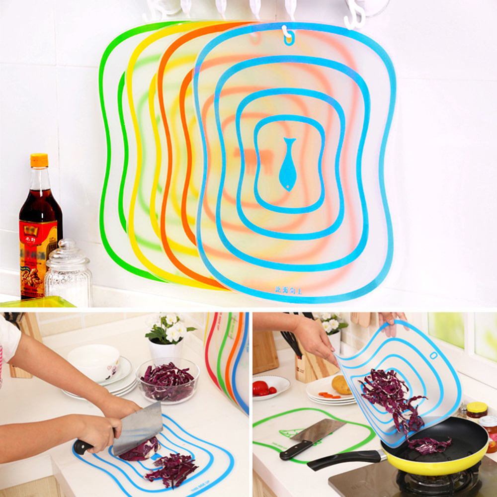 1pc Plastic Chopping Board Non-slip Frosted Kitchen Cutting Board Vegetable Meat Tools Kitchen Accessories Chopping Board(China)
