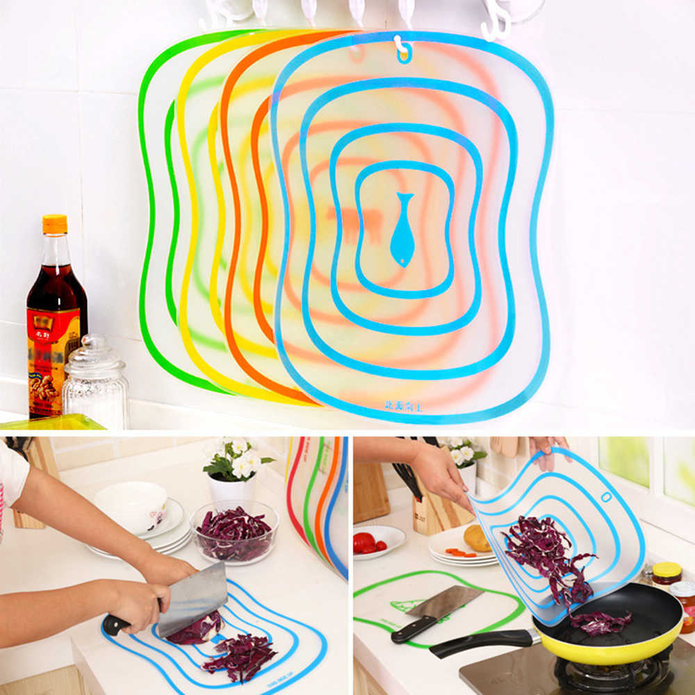 1pc Plastic Chopping Board Non-slip Frosted Kitchen Cutting Board Vegetable Meat Tools Kitchen Accessories Chopping Board