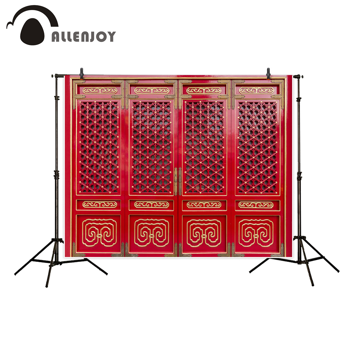 Allenjoy Backdrop For Photo Studio Chinese Style Red Ancient Door