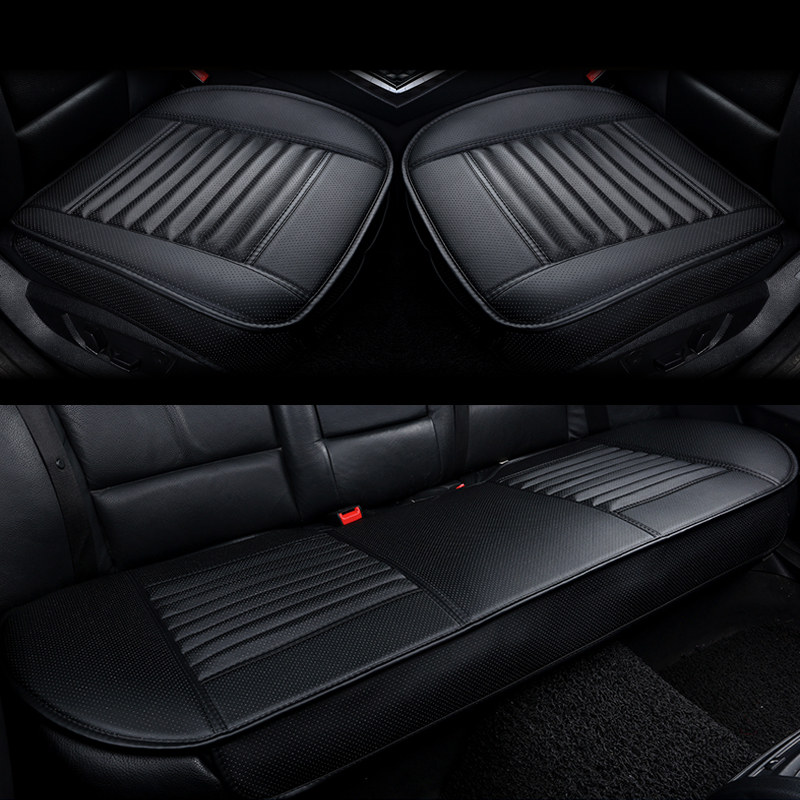 Image 2 - Car Seat Cushions Car Cushion Side Around Seat Cover Four Seasons Car Seat Covers Bamboo Charcoal Pu Leather Seat Protector-in Automobiles Seat Covers from Automobiles & Motorcycles