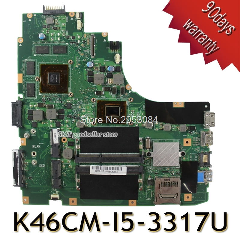 K46CM Motherboard I5-3317/3337 GT630M 2GB For ASUS K46C K46CM K46CB Laptop motherboard K46CM Mainboard K46CM Motherboard test OK kefu k46cb motherboard for asus k46cb k46cm a46c laptop motherboard i5 3317u cpu pm k46cb viedo card original 100