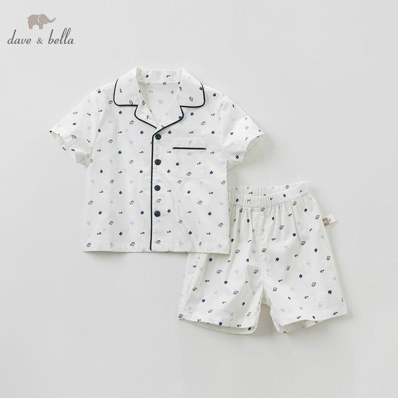 Dave bella DB10488 pajama Sets For baby boys Pyjama Summer fashion sleepwear boutique homewear kids clothes