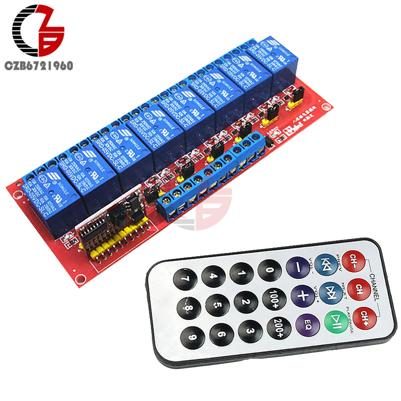5V 8 Channel Multi-function IR Infrared Dual Trigger Two-way Driver IC Relay Module + Transmitter Bidirectional 5sets new cjmcu txs0108e 8 channel level shifter module 8 bit bidirectional voltage converter