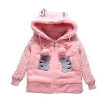 купить Thicken Winter Baby Girls Coats Windproof Warm Cotton Child Coat Children Outerwear For 3-14 Years Old онлайн