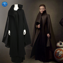 Star Wars 8 Cosplay Princess Leia Cosplay Costume Women Deluxe Outfit Black Full Set Halloween Costumes For Women Custom Made