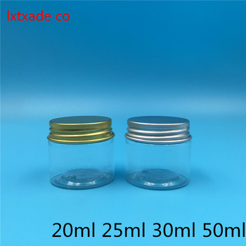 50 pcs Free Shipping 25/30/50 ml Empty Clear Plastic Packaging Bottles jar Gold Cream Eye Gel Bath Salt Small Cosmetic Container цена 2017