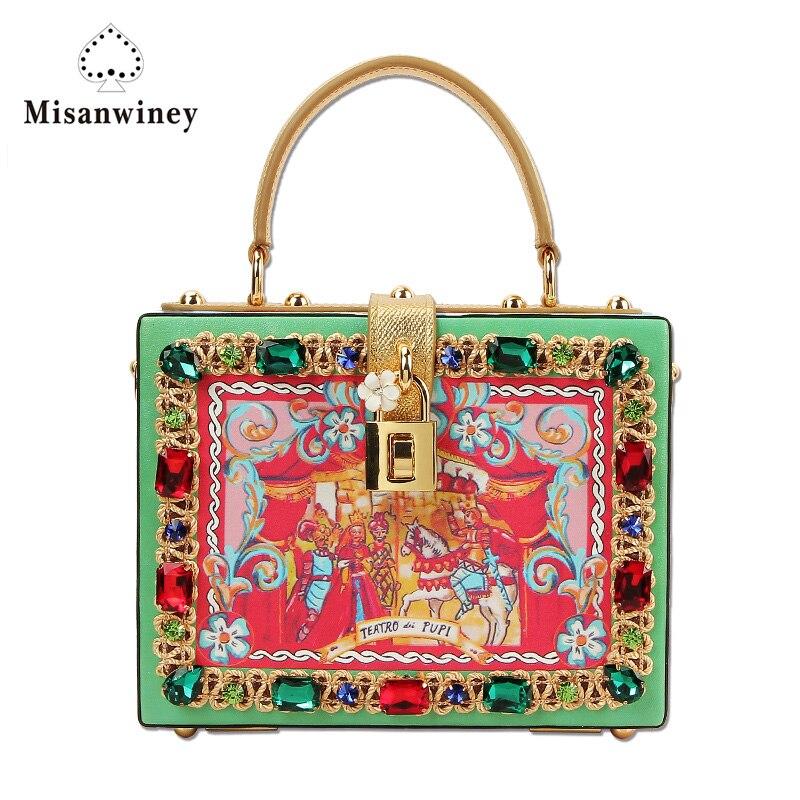Abend Handtasche Berühmte Blume Taschen 2017 Mehrfach Modedesigner Tasche Crossbody Partei Diamant Misanwiney Box Luxus Frauen Marke qF7OCcwP