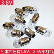 Небольшой лампы 3,8 V винт лампы Студент физическая электрические экспериментального прибора старый шарик