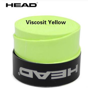10pcs/lot Head Tennis Racket PU Overgrip Anti-skid Sweat Absorbed Soft Wrap Taps Tenis Racquet Damper Dry/ Vibration Tacky grips - Viscosit yellow