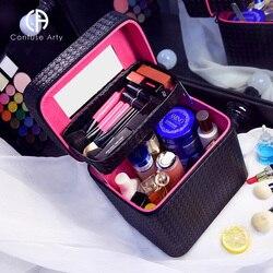 2018 Professionele Cosmetische Dozen Vrouwen Grote Capaciteit Opslag Reizen Make-Up Tas Cosmetische Case