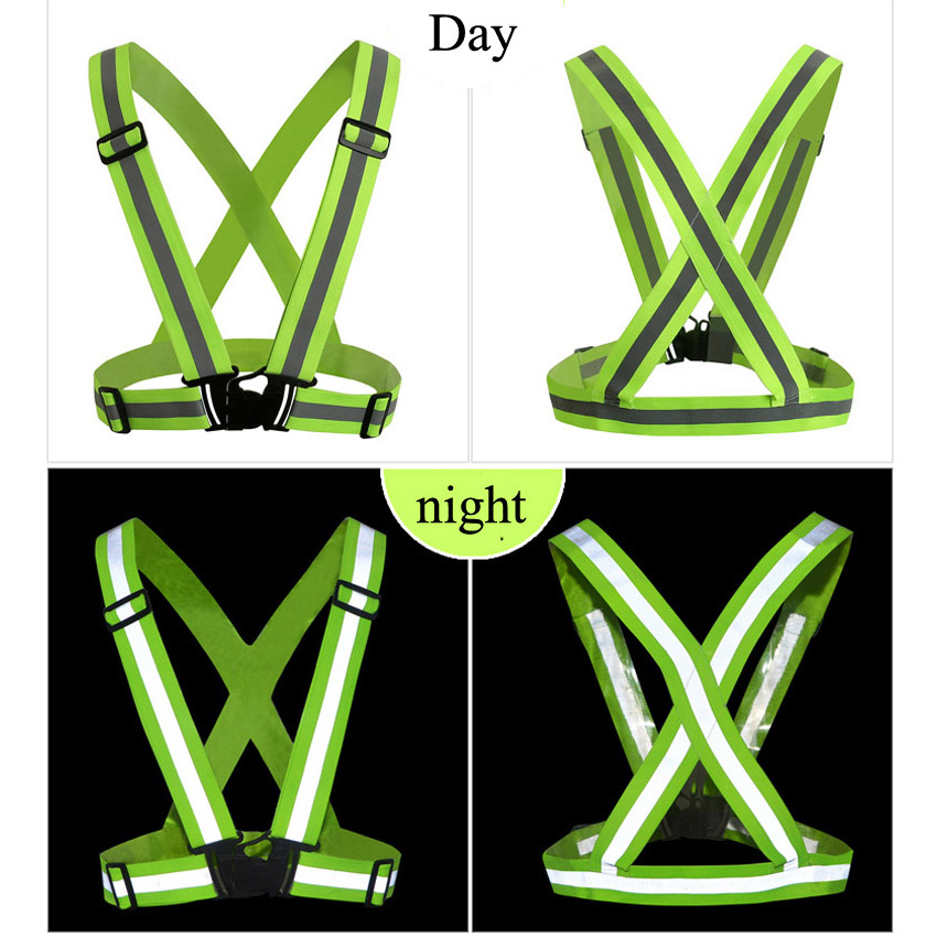 Hot 360 Degrees High Visibility Neon Safety Vest Reflective Belt Safety Vest Fit for Running Cycling Sports Outdoor Clothes