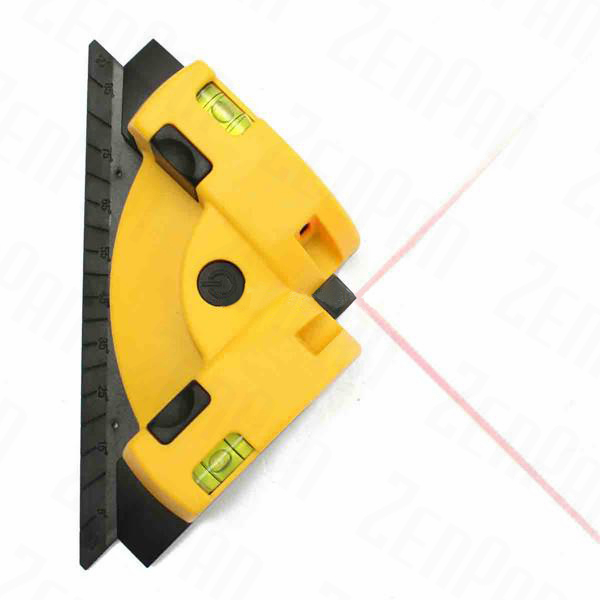 Zenpan 635nm Laser Line Projection Square Level Right Angle 90 Degree Measure Tool