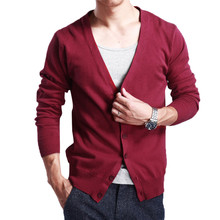 YFFUSHI 2017 New Arrival Sweater Men Spring Autumn V-neck Cardigan Men 9 Colors Sweaters Casual Style Fashion Slim Fit