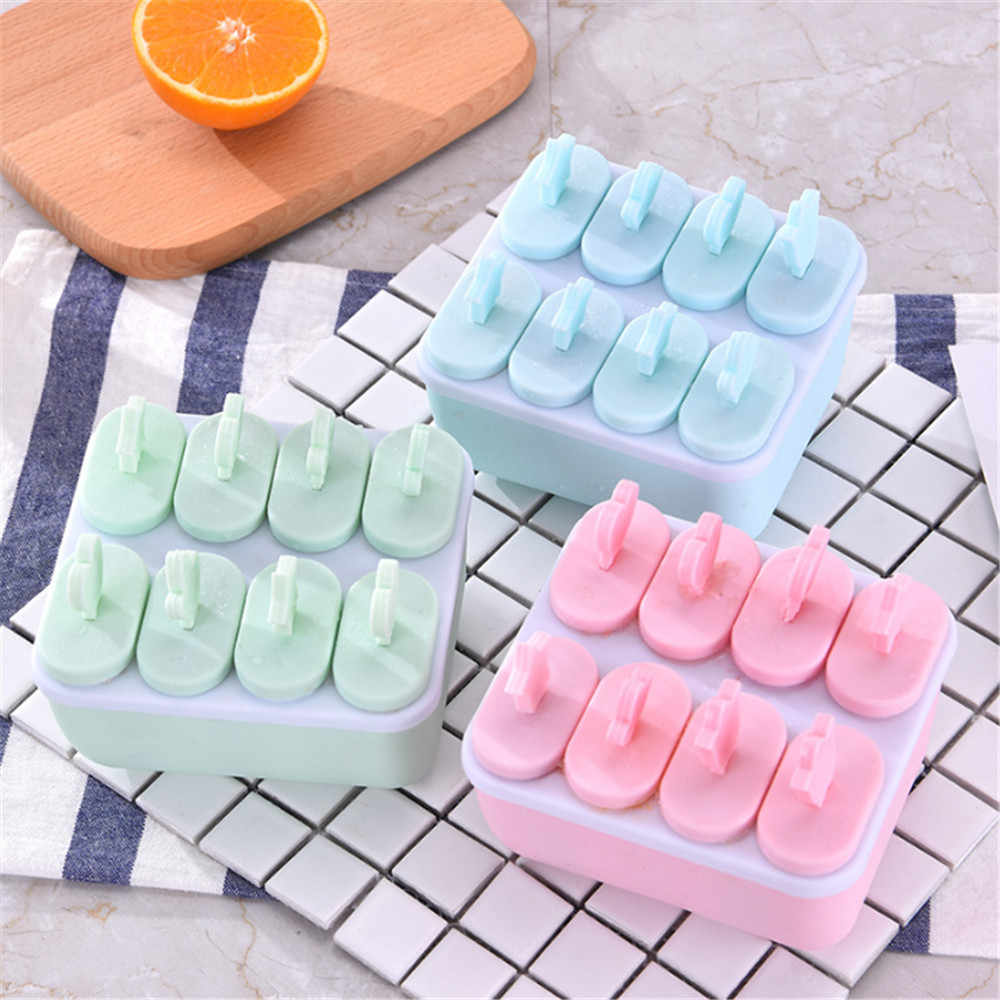 DIY Plastic Popsicle Mold Tray Cream Mold Ice Tray Lolly Maker Frozen  Ice Cream Pop Baking Moulds Popsicle Molds Cooking Tools