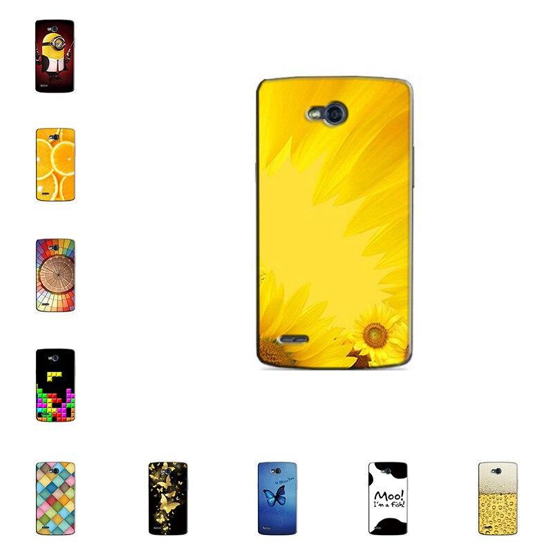 Жесткий чехол для LG Optimus l80 d380 тонкий задняя крышка УФ живописи ПК щит Защитный чехол для LG L80 d380 телефон В виде ракушки Сумки кожи