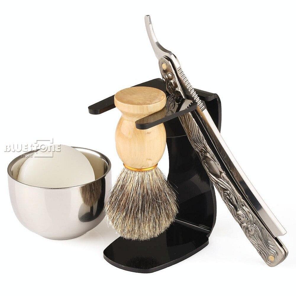 5 i 1 Raket Rakersats Rak Rakare + Borste + Svart Stativ + Skål + - Rakning och hårborttagning - Foto 2
