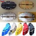 8 Colores ABS Universal Car Auto 3D Palabra Estilo Disco de Pinza de Freno Delantero Y Trasero Cubiertas Tamaño M + S