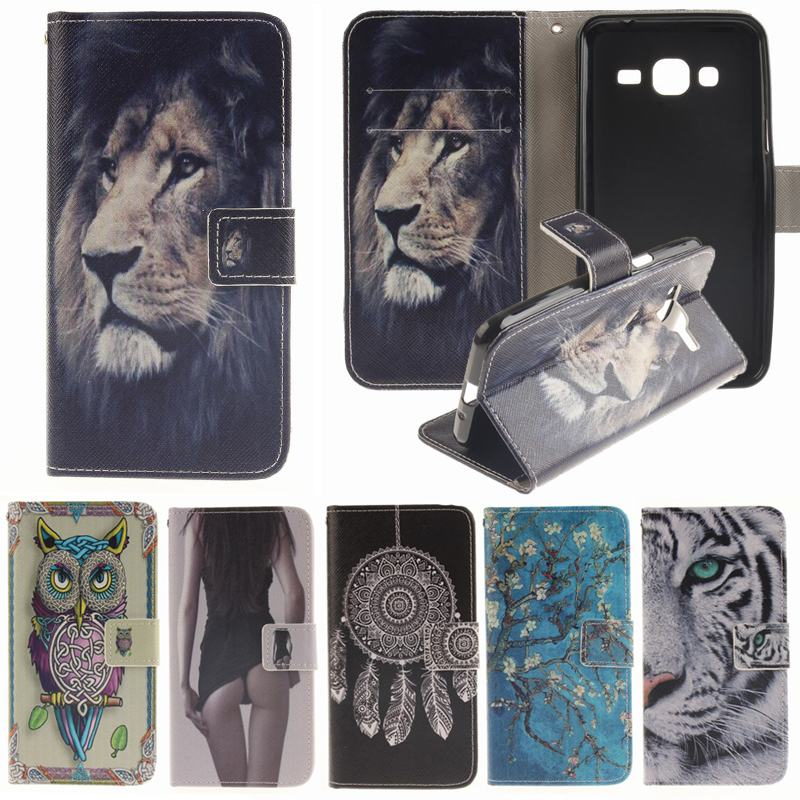 leather phone case for coque samsung galaxy j3 6 2016 case cute animal flower flip cover for. Black Bedroom Furniture Sets. Home Design Ideas