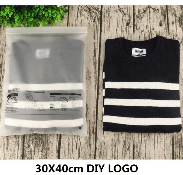 [4Y4A] 50pcs/Lot Accept Custom Logo Storage Eva Scrub Clothing Bag Chain Ziplock Embossed Buckle