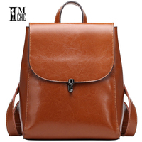 Literary Artistic Luxury Split Leather Women Stylish Backpacks Vintage Woman Bags Backpack Preppy School Young Girl