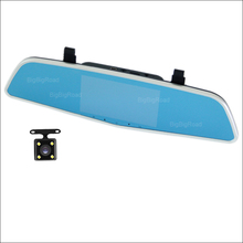 Sale BigBigRoad For hyundai h-1 i10 i40 HB20 Avante Car DVR Rearview Mirror Video Recorder Dual Cameras 5 inch IPS Screen dash cam