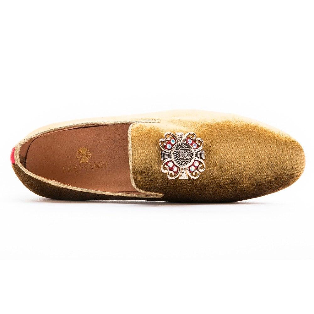 Faulenzer Party Usa Bankett Kleid Der Schuhe Mit Wohnungen Marke Handgemachte Strass Charme Und Prom Männer Delicated Gold Luxuriöse tqO8EO