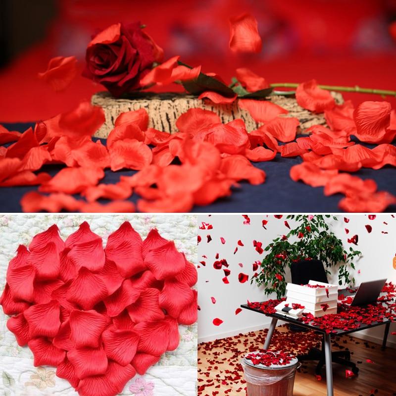 100Pcs/Pack 5*5cm Flower Petals Wedding Dried Rose Petals Artificial Petalas De Rosa Decorations Marriage Room Flower Rose